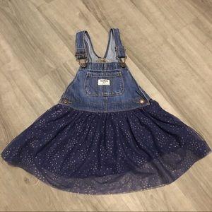 OshKosh overall with attached tutu